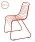 metalowe krzesło Flux czerwone   Magis   design Jerszy Seymour   Magis