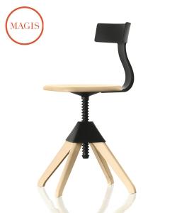 Tuffy krzesło obrotowe buk / czarny | Magis | design Konstantin Grcic | Design Spichlerz