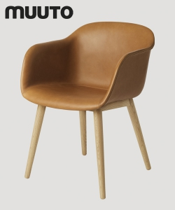 Fiber Chair Wood Skóra | Muuto