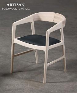 Tesa krzesło Soft designerskie krzesło drewniane z tapicerowanym lub skórzanym siedziskiem | Artisan | Design Spichlerz