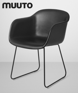 Fiber Chair Sled Skóra | Muuto