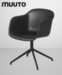 Fiber Chair Swivel Skóra | Muuto