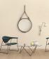 Adnet Circulaire lustro | Jacques Adnet | Gubi | Design Spichlerz
