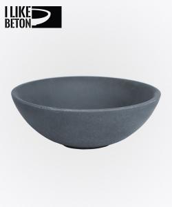 Tondo miska betonowa| czarny mat | I Like Beton