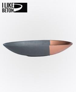 Mezzo miska betonowa | czarno - miedziana | I Like Beton