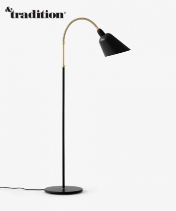 Bellevue AJ7 lampa stojąca czarna   design Arne Jacobsen   &tradition