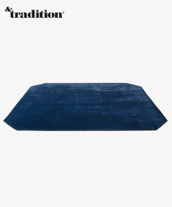 The Moor Rug AP8 dywan granatowy   design All The Way To Paris   &tradition