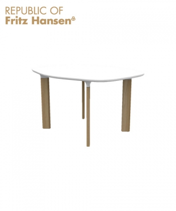 Analog JH43 biały / biały / dąb | Fritz Hansen | design Jaime Hayon