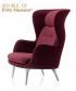 Ro fotel designer selection bordowy | Fritz Hansen | design Jaime Hayon