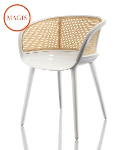 Krzesło Cyborg Vienna białe | Magis | design Marcel Wanders