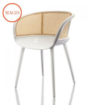 Krzesło Cyborg Vienna białe   Magis   design Marcel Wanders