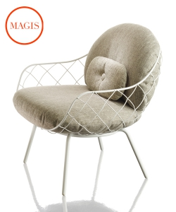 Piña Outdoor fotel ogrodowy w stylu skandynawskim | Magis | design Jaime Hayon