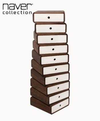 Turning Boxes komoda z litego drewna w stylu skandynawskim | Naver Collection