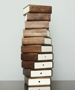 Turning Boxes komoda z litego drewna w stylu skandynawskim   Naver Collection