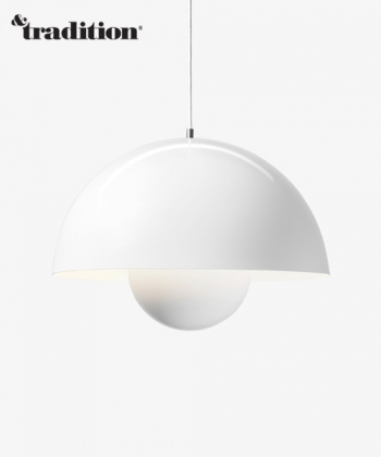 &Tradition lampa wisząca Flowerpot VP2, kolor biały, design Verner Panton