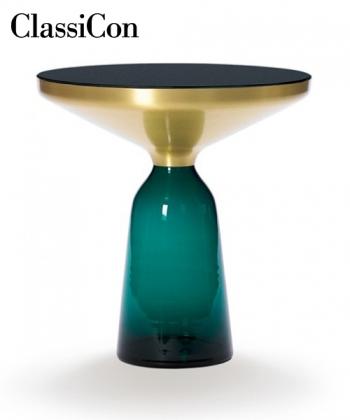 Bell Side Table szklany stolik kawowy zielony   ClassiCon
