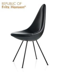 Drop Black Edition ikona designu skandynawskiego | design Arne Jacobsen | Fritz Hansen