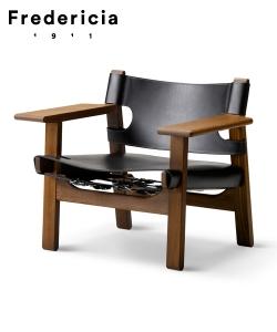 Skórzany fotel Spanish Chair (Fotel Hiszpański) | Fredericia