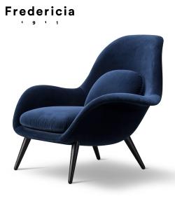 Fotel skandynawski Swoon | Fredericia | design Space Copenhagen
