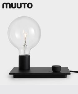 Skandynawska lampa stołowa w stylu industrialnym Control czerwona | Muuto