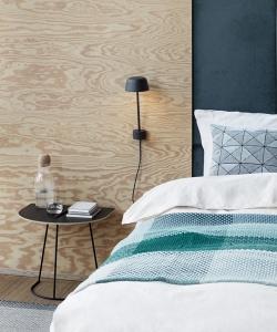 Skandynawski kinkiet Lean Lamp zielony duńskiej marki Muuto