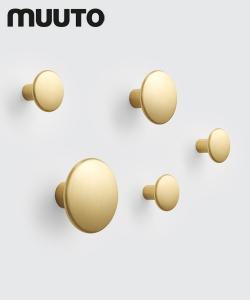 Metalowe wieszaki skandynawskie The Dots Metal zestaw mosiądz | Muuto