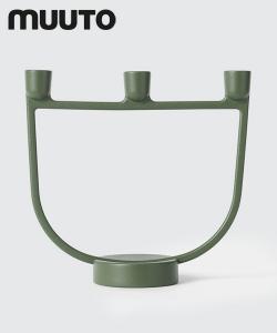 Skandynawski świecznik designerski Open Candelabra zielony | Muuto