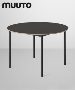 Skandynawski minimalistyczny stół Base Table Round czarny | Muuto