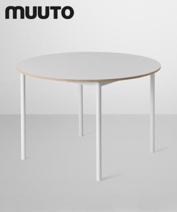 Skandynawski minimalistyczny stół Base Table Round biały | Muuto