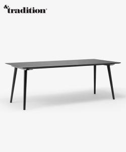 In Between Table SK5 / SK6 czarny skandynawski stół drewniany | &tradition
