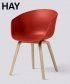 About A Chair AAC22 skandynawskie krzesło białe / dąb | tworzywo drewniane nogi | Hay