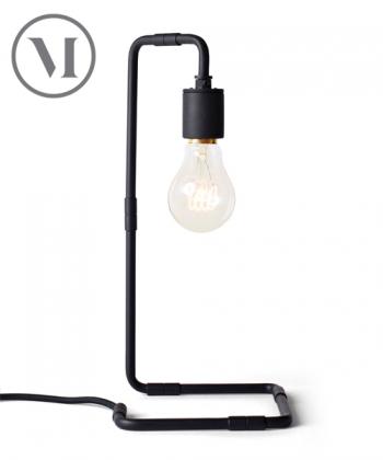 Reade czarna skandynawska lampa stołowa w stylu industrialnym | Menu