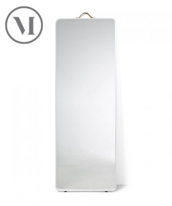 Norm Floor Mirror czarne skandynawskie lustro stojące   Menu