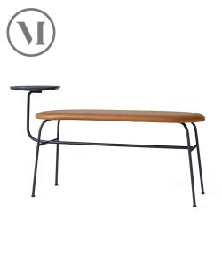 Afteroom Bench czarna tapicerowana ławka skandynawska | Menu