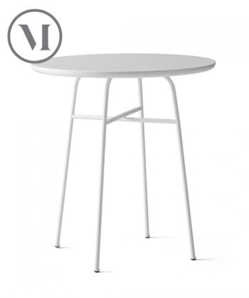 Afteroom Table biały wys. 73 cm skandynawski stół okrągły | Menu