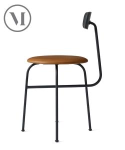 Afteroom Chair 4 Soft cognac skandynawie krzesło skórzane | Menu
