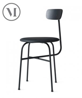 Afteroom Chair 4 Soft czarne skandynawie krzesło skórzane | Menu