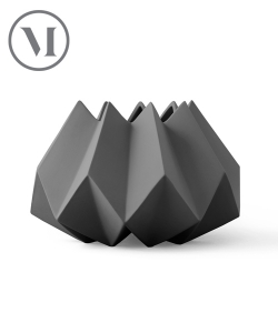 Folded Vase Ash skandynawski wazon | Menu