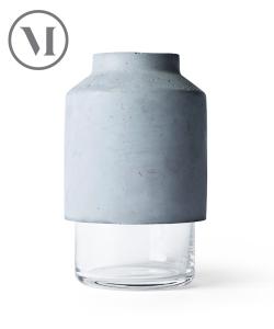 Willmann Vase szary skandynawski wazon z betonu | Menu