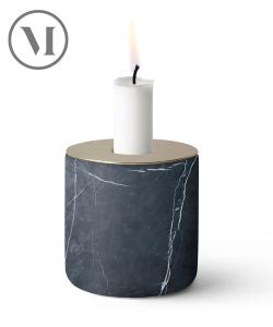 Chunk Black Marble skandynawski świecznik z marmuru | Menu