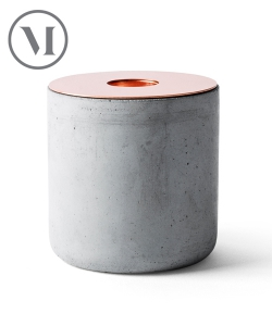 Chunk of Concrete skandynawski świecznik z betonu | Menu