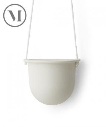 Hanging Vessel biała skandynawska doniczka wisząca | Menu