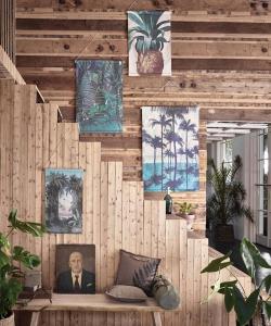 Dekoracja ścienna Las skandynawska dekoracja