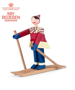Datti The Skier skandynawska figurka drewniana | Kay Bojesen