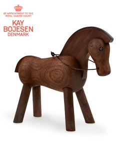 Horse ciemna skandynawska figurka drewniana | Kay Bojesen