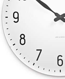 Station Wall Clock XL designerski zegar skandynawski | Arne Jacobsen