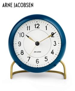 Station Table Clock designerski zegar skandynawski Arne Jacobsen