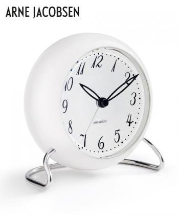 LK Table Clock designerski zegar stołowy Arne Jacobsen