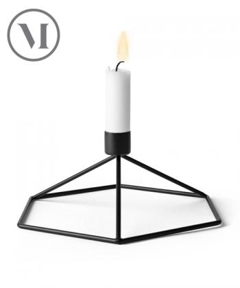 POV Świecznik czarny skandynawski świecznik geometryczny | Menu | design Note Design Studio