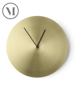 Norm Wall Clock mosiądz szczotkowany skandynawski zegar ścienny | Menu | design Norm Architects